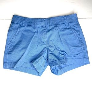 """J. Crew 4"""" Chino Shorts in Blue"""